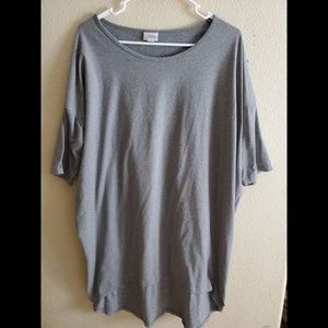 Lularoe Irma Solid Gray Casual Tunic dress